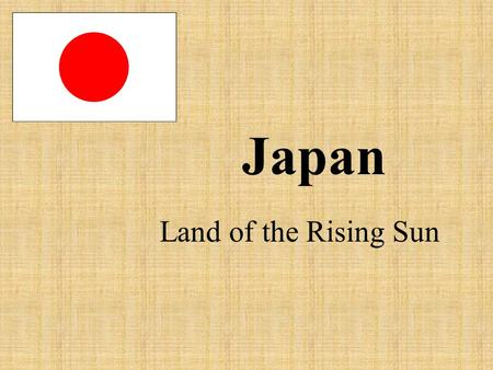 Japan Land of the Rising Sun. Certain materials are included under the fair use exemption of the U.S. Copyright Law and have been prepared according to.