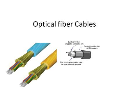 Optical fiber Cables. The functions of the optical cable 1.Fiber protection:To protect against fiber damage and breakage both during installation and.
