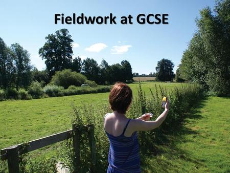 Fieldwork at GCSE. A 'world class' 14-16 curriculum? Extend their knowledge of locations, places and contexts Understand some key processes, concepts,
