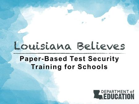 Paper-Based Test Security Training for Schools. Agenda Welcome Communication and Support Policy and Key Terms Scheduling Monitoring Preventing Plagiarism.