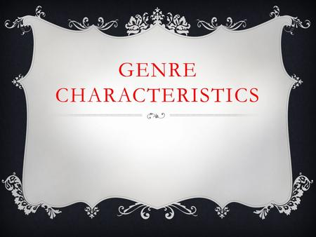 GENRE CHARACTERISTICS. BIOGRAPHY An account of a real person's life written by someone else Tells important information about a person's life, including.
