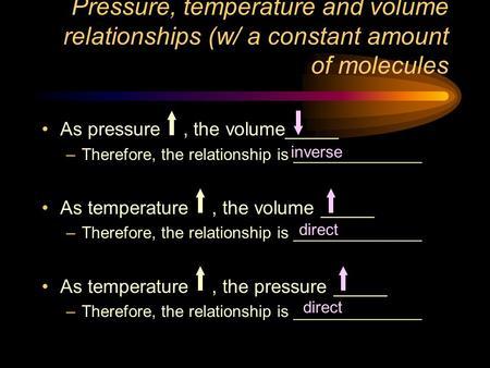 pressure and temperature relationship ppt
