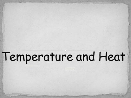 Thermal Energy  Temperature  Thermal Energy  Heat Transfer.