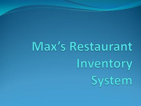 Introduction Inventory system is basically the total amount of goods and materials held in stock by a factory, store and other businesses. In its simplest.