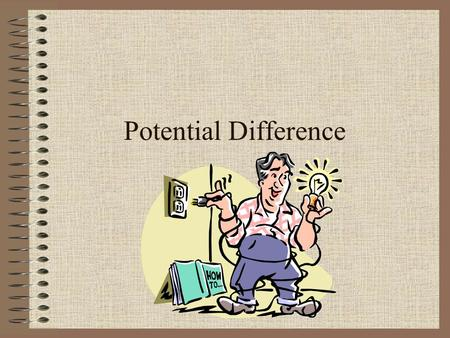 Potential Difference Potential A charged particle has potential energy due to its position relative to another charged object (Electric Potential Energy)