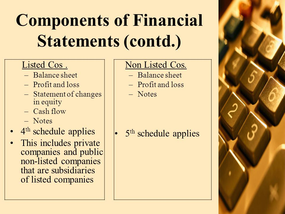 The Annual Report – other information TYPE OF REPORTREQUIREMENT OF: Director's reportCompanies' Ordinance 1984 Statement of Compliance with Code of corporate governance Listing regulations Company information including financial progress reports, management structure etc –Other information includes the following: –The auditor may review the information in relation to the accounts under audit