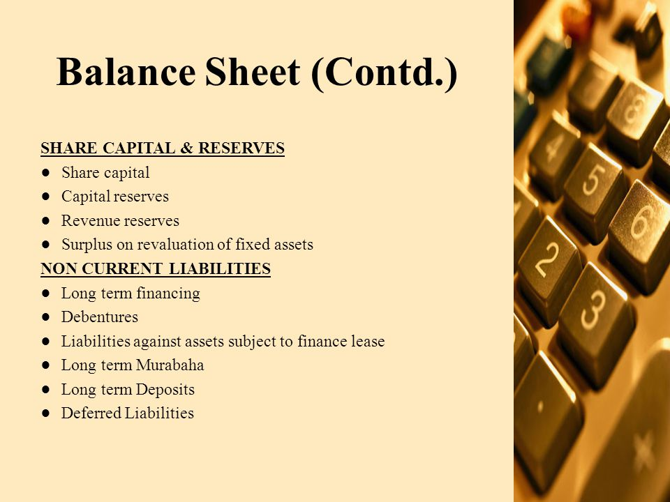 Balance Sheet (Contd.) CURRENT LIABILITIES Trade and other payables Interest, profit, markup accrued Short term borrowings Current portion of long term borrowings Current portion of long term murabaha Provisions for taxation CONTINGENCIES AND COMMITMENTS