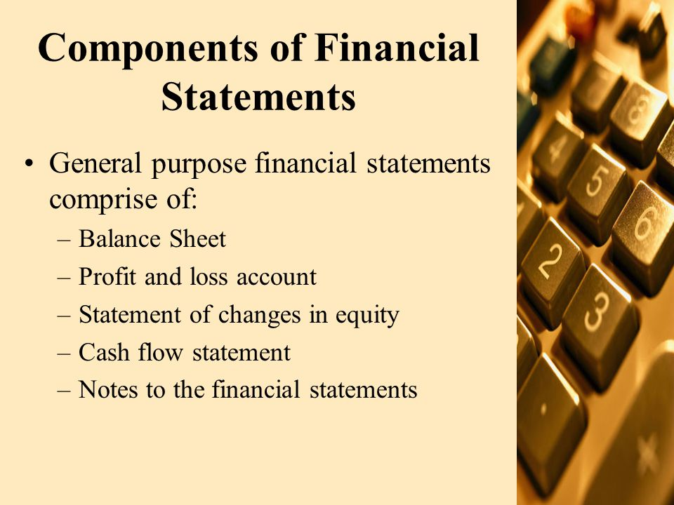 Components of Financial Statements (contd.) Listed Cos.