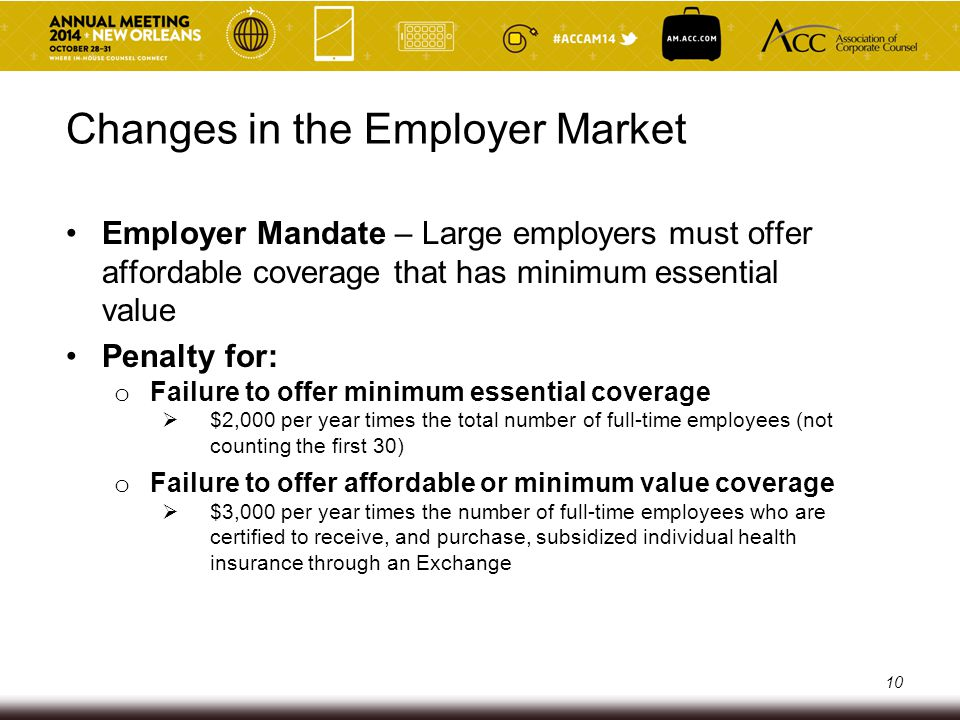 Small Business Health Options Program (SHOP) Open to small businesses with fewer than 50 full-time employees Tax credit for small businesses with fewer than 25 employees Definition of small employer will change to 1-100 full- time employees on January 1, 2016 11