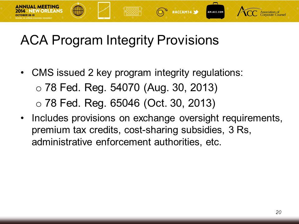 Key Federal Health Care Regulators U.S.