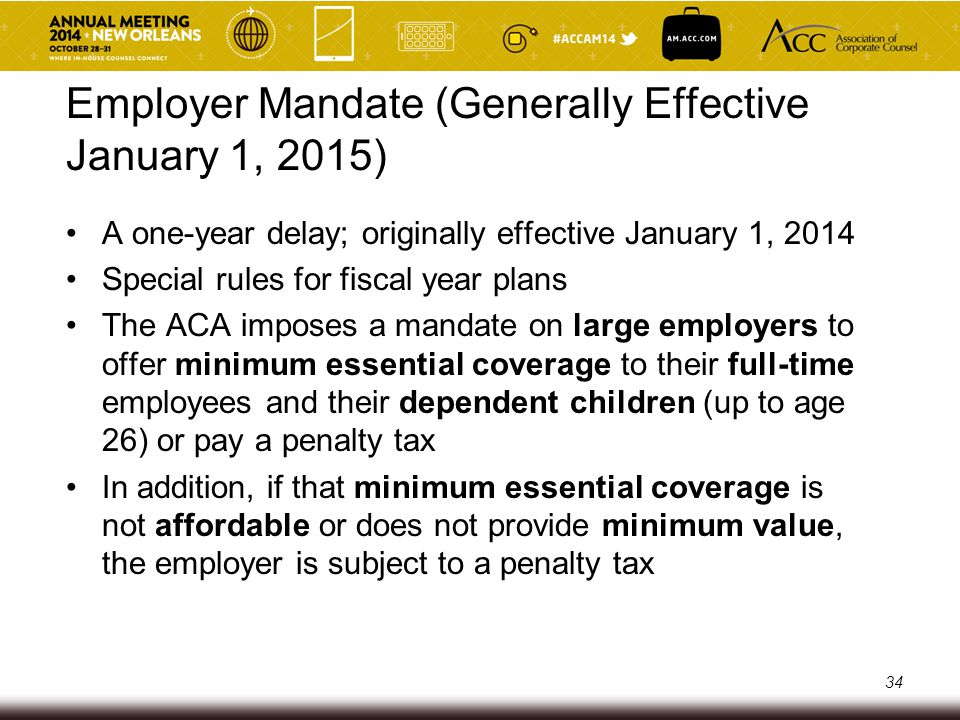 Penalty Tax Trigger A penalty tax is due for any month in which at least one full-time employee is certified to the employer as having purchased health insurance through an Exchange with a premium subsidy from the government for that coverage But an individual is NOT eligible for a premium subsidy offered through the Exchange if he or she is eligible for employer-sponsored coverage that is affordable and provides minimum value 35