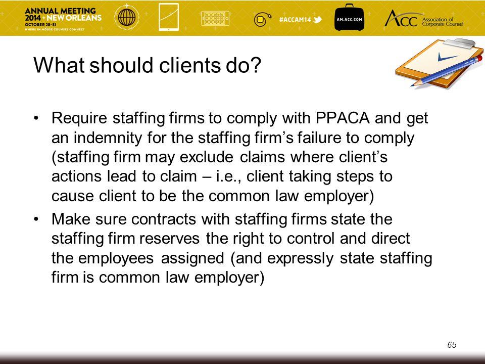 What should clients do.