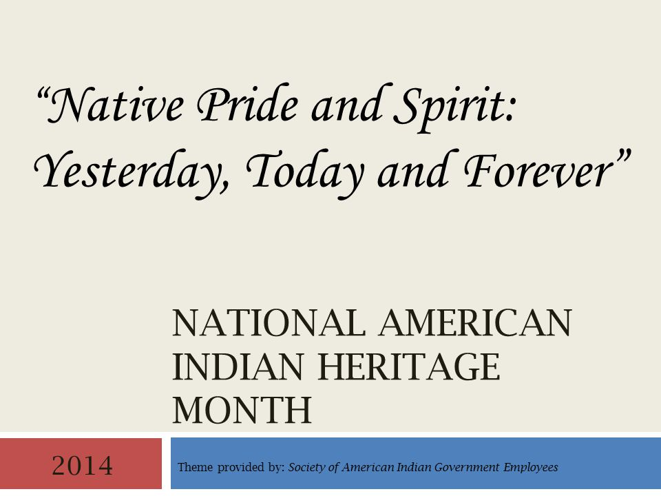 National American Indian Heritage Month 2 The Department of Defense (DoD) celebrates observances annually in support of Joint Congressional Resolutions, Presidential Proclamations, and achievements of groups that comprise the society of the United States.