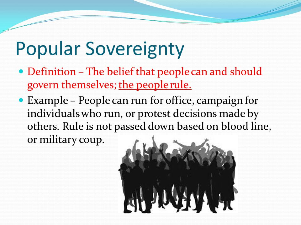 Republicanism Definition – People vote for people to represent their views in government.