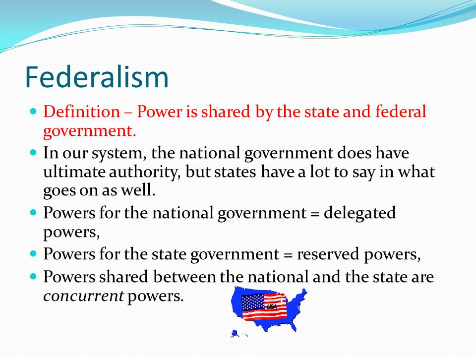 Separation of Powers Definition – The Federal government is divided into 3 branches - Executive, Legislative, and Judicial.