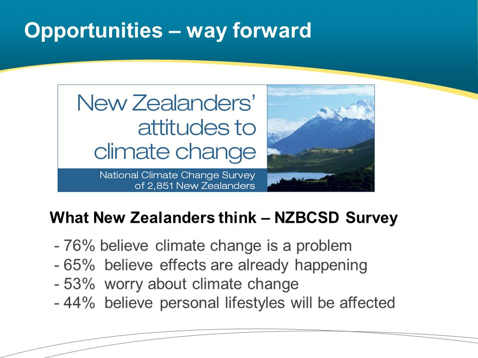 Opportunities – way forward Local Government has the mandate Adaptation already happening – often called something else Recognising multiple benefits of adaptation Insurers Opportunities – way forward