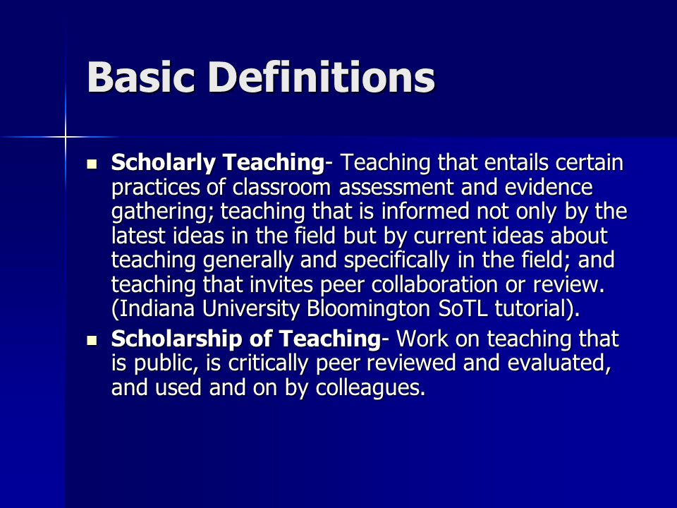 A Teaching Hierarchy: Where are YOU? SoTL Going Through Motions TEACHING Scholarly Teaching