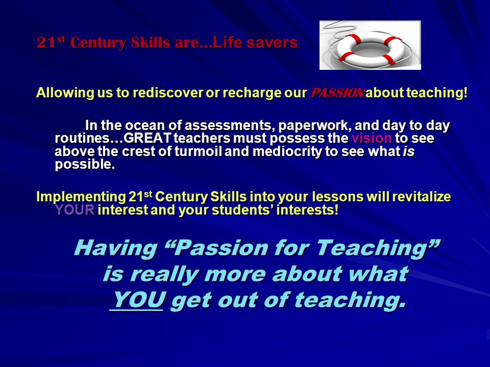 21st Century Learning: What does it involve.1. Emphasize core subjects 2.