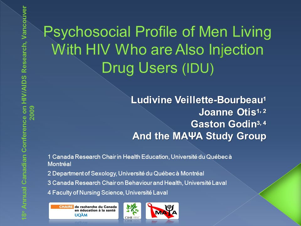  Not enough evidence-based intervention programs exist to improve the quality of life (QOL) of people living with HIV (PLHIV), and even less for IDU.