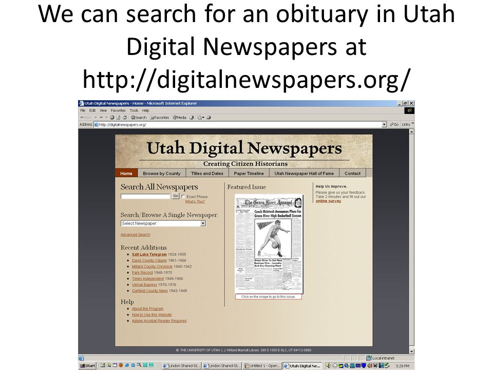 Here are some of the newspapers found there: