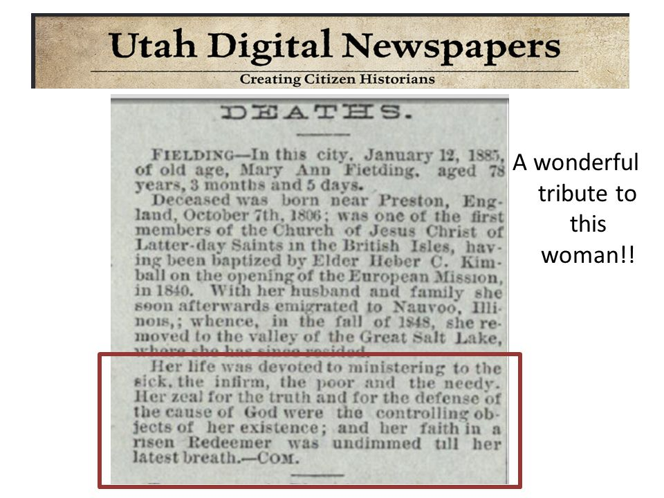 Do not forget to look for their children DIED BEFORE 1904CHECK OBITUARIES
