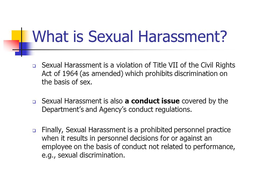 What is Sexual Harassment.