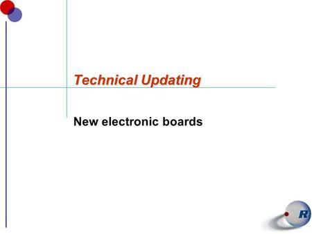 Technical Updating New electronic boards. New electrical Board CAREL PCO OEM.
