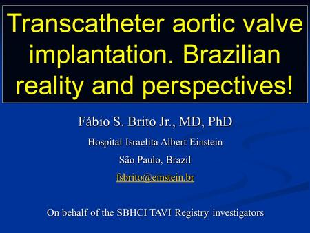Transcatheter aortic valve implantation