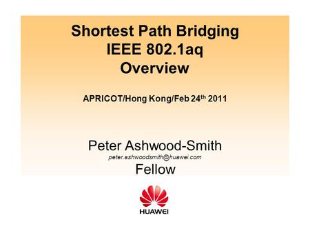 Shortest Path Bridging IEEE 802
