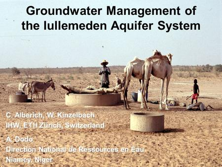 Groundwater Management of the Iullemeden Aquifer System.