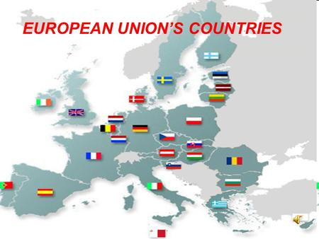 EUROPEAN UNIONS COUNTRIES. ITALY: EUROPES BOOT San Marino Vatican City It is in the South of Europe and it borders the Mediterranean Sea. It borders France.