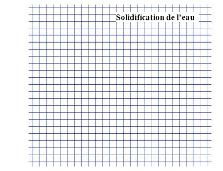Solidification de leau. au stylo noir (°C) Solidification de leau.