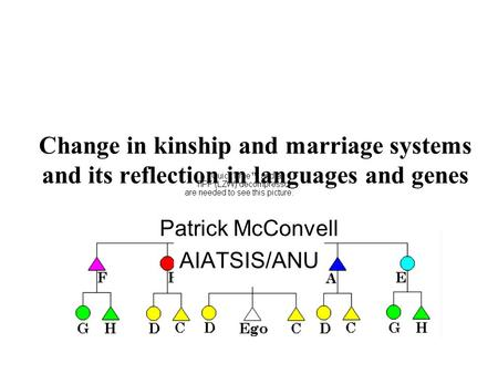 Change in kinship and marriage systems and its reflection in languages and genes Patrick McConvell AIATSIS/ANU.