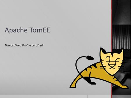 Apache TomEE Tomcat Web Profile certified TomEE gesprochen Tommy.
