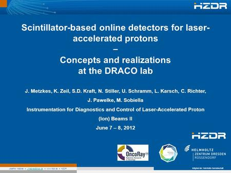 Scintillator-based online detectors for laser-accelerated protons –
