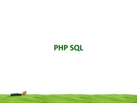 PHP SQL. Connection code:- mysql_connect(server, username, password); Connect to the Database Server with the authorised user and password. Eg $connect.