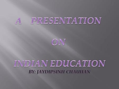 STATUS OF EDUCATION AND VOCATIONAL EDUCATION IN INDIA ASERF Apeejay Stya Education Research Foundation.