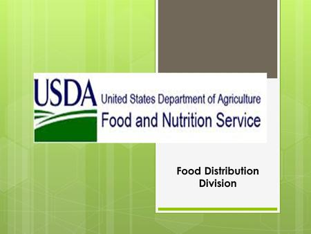 Food Distribution Division. Commodity Supplemental Food Program (CSFP)