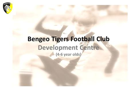 Bengeo Tigers Football Club Development Centre (4-6 year olds)