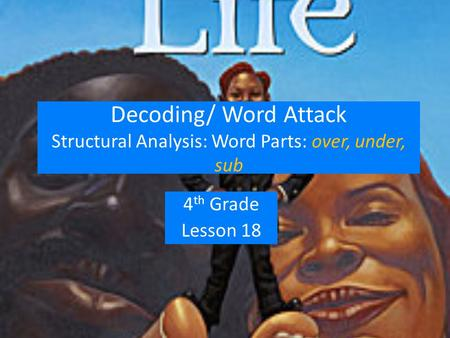 Decoding/ Word Attack Structural Analysis: Word Parts: over, under, sub 4 th Grade Lesson 18.