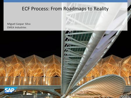 Miguel Gaspar Silva EMEA Industries ECF Process: From Roadmaps to Reality.