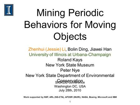 Mining Periodic Behaviors for Moving Objects