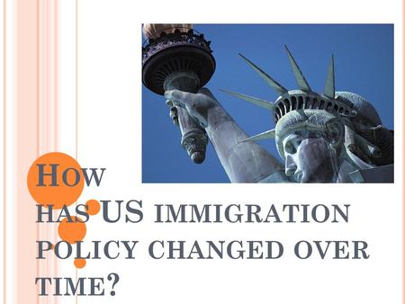 H OW HAS US IMMIGRATION POLICY CHANGED OVER TIME ?