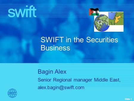SWIFT in the Securities Business