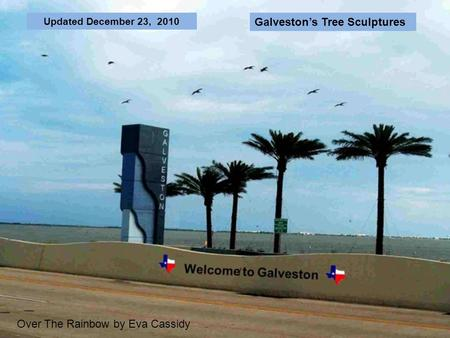 Updated December 23, 2010 Over The Rainbow by Eva Cassidy Galvestons Tree Sculptures.