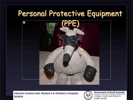 Personal Protective Equipment (PPE). Gloves – protect hands Gloves – protect hands Gowns/aprons – protect skin and/or clothing Gowns/aprons – protect.