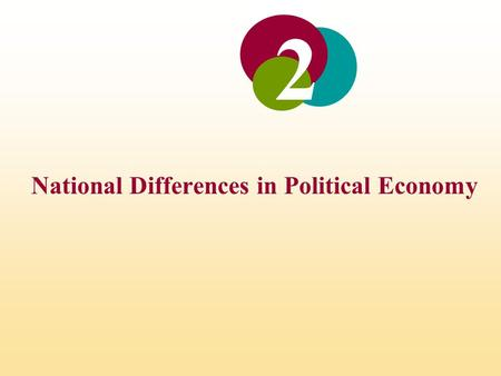 National Differences in Political Economy 2. INTRODUCTION To explores how the political, economic, and legal systems of countries differ Together these.