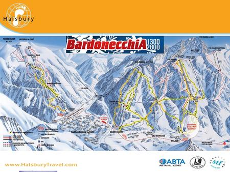 Tonale: ski area description by Halsbury Travel Over 100km of marked runs.