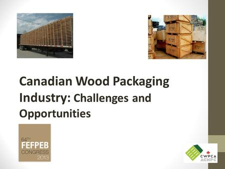 Canadian Wood Packaging Industry: Challenges and Opportunities.