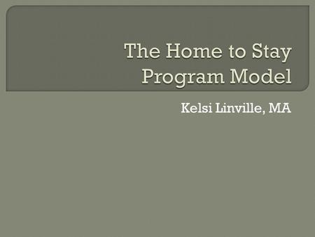 Kelsi Linville, MA. Two-year SOF-alternatives grant funded by DMHA Two-fold goal of program: Prevent inpatient hospitalizations Provide non-traditional.